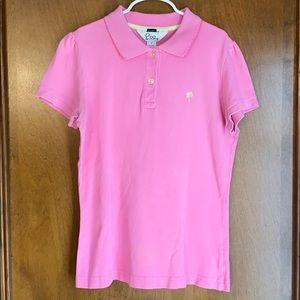 Lilly Pulitzer Girls Size S Pink Golf Shirt